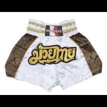 Thai-box nadrág fehér/arany