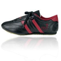 Taekwondo cipő, fekete-piros