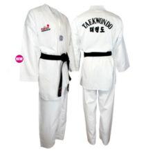WTF taekwondo edzőruha fehér gallérral