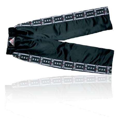 Kick-box nadrág, fekete Fuji mintás