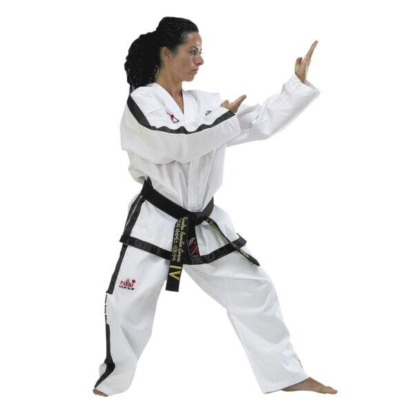 ITF Taekwon-do edzőruha, bordás, 4-6 danhoz, instruktoroknak