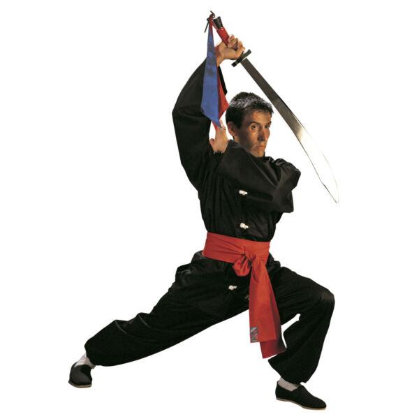 Kung Fu edzőruha, fehér gombokkal