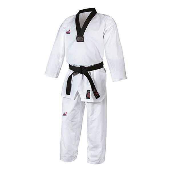 WT taekwondo ruha fekete gallérral, gyémánt mintás