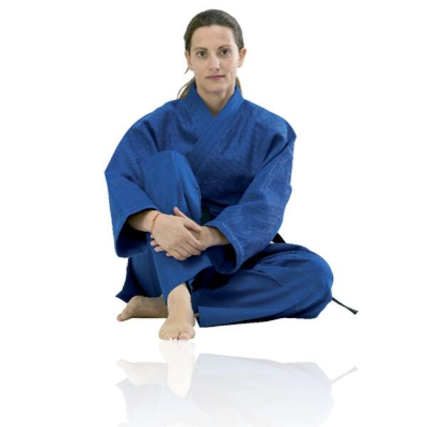 Judo edzőruha, rizsszemes, kék