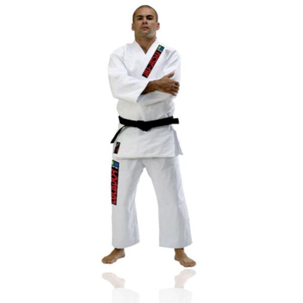 Brasil jiu-jitsu edzőruha rizsszemes, fehér