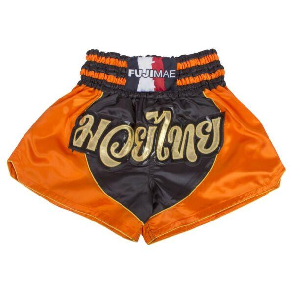Thai-box nadrág, fekete/narancs