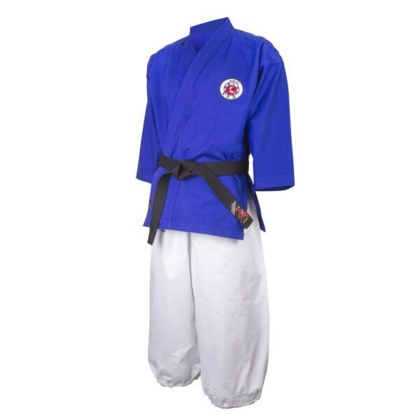 Nanbudo ruha, fehér-kék