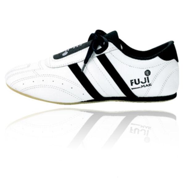 Taekwondo cipő, fehér-fekete
