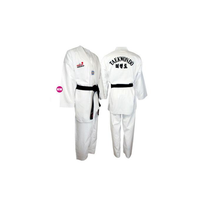 WT taekwondo edzőruha fehér gallérral