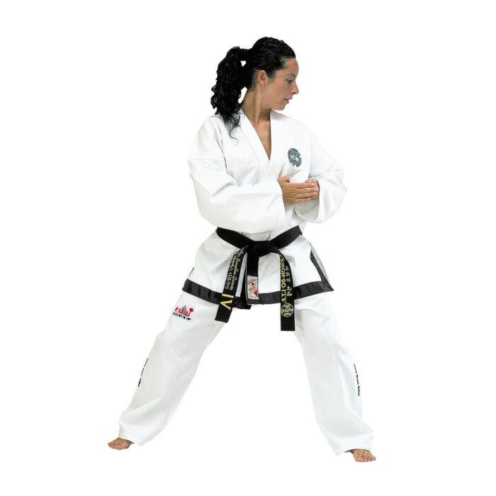 Új logós ITF taekwon-do fekete öves ruha