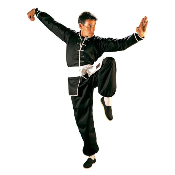 Kung Fu edzőruha, fehér szegéllyel