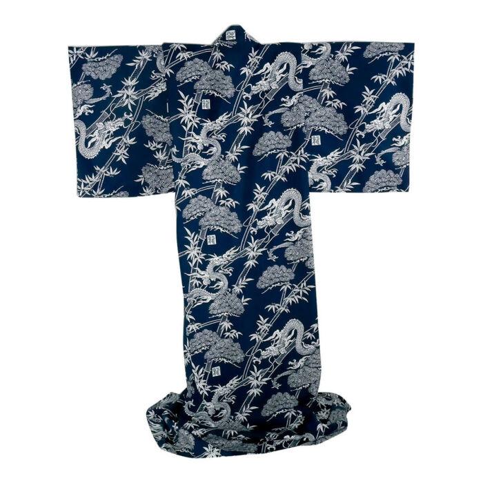 Japán kimonó Forest dragon, Pamut